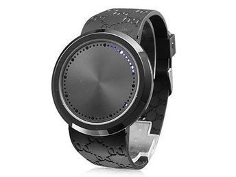 Svart Touch Screen LED-Klocka Armbandsur