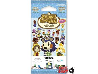Series 3 Animal Crossing amiibo cards Pack (3 Set)