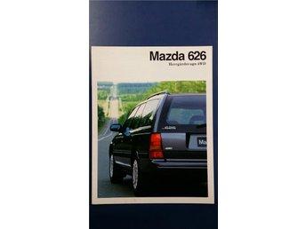 Mazda 626 4WD Kombi Herrgårdsvagn 1991 - broschyr - Uppsala - Mazda 626 4WD Kombi Herrgårdsvagn 1991 - broschyr - Uppsala