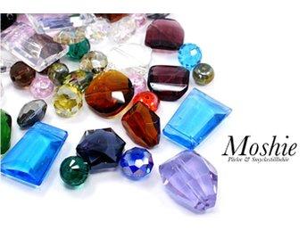 10 st stora slipade glaspärlor i blandade färger & former, 10-35mm - örebro - 10 st stora slipade glaspärlor i blandade färger & former, 10-35mm - örebro