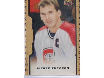 2014-15 UD Masterpieces Framed Black Leather #136 Pierre Turgeon /50 - Kalmar / Sweden - 2014-15 UD Masterpieces Framed Black Leather #136 Pierre Turgeon /50 - Kalmar / Sweden