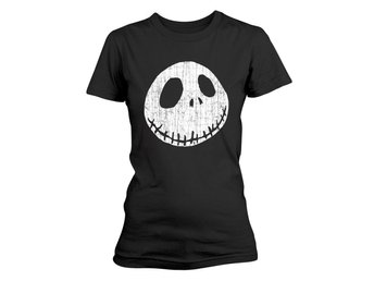 NIGHTMARE BEFORE CHRISTMAS CRACKED FACE T-Shirt, Kvinnor - Large