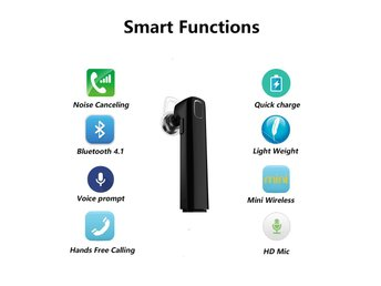 Bluetooth headset (handsfree) - Svart