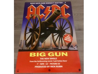 AC/DC BIG GUNS 1993 PHOTO POSTER