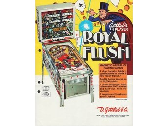 Original flyer Gottlieb ROYAL FLUSH
