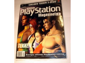 PLAYSTATION 9  NY CD  9/1998 TEKKEN 3 mm.  I ORIGINALPLAST