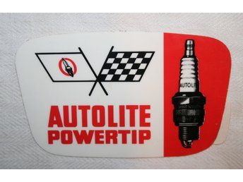 AUTOLITE POWERTRIP TÄNDSTIFT ÄLDRE DEKAL
