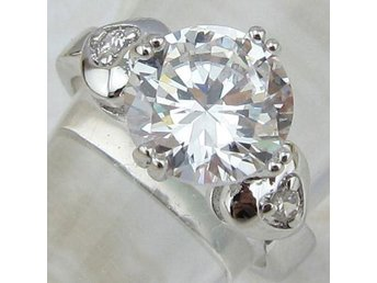 Size 17 , 9*9mm Cubic Zirconia gems jewelry  ring