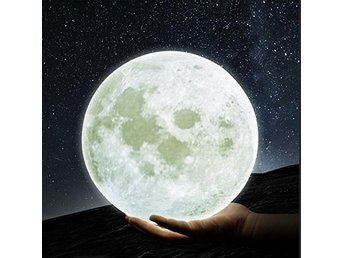 3D Printing Moon Night Light Rechargeable Dimmable Touch Control Warm and white