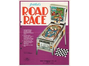 Original flyer Gottlieb ROAD RACE