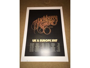 BlackBerry Smoke - Poster för signering i Oslo 2017 på Big Dipper