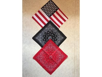 3 - pack USA YANKEE ROCKABILLY BANDANAS