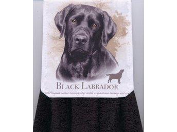 Välsydd spishandduk. Fin Svart Labrador, svart frotté handduk. - Grytgöl - Välsydd spishandduk. Fin Svart Labrador, svart frotté handduk. - Grytgöl