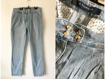 365 Sunshine MQ tapered jeans pants blå baggy casual chinos 42
