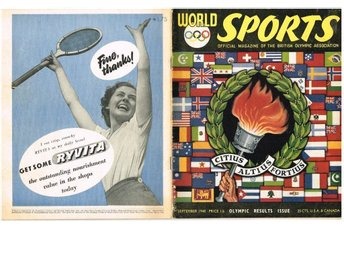 WORLD SPORTS september 1948 Olympic results issue
