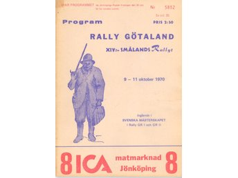 Rally Götaland Program 1970