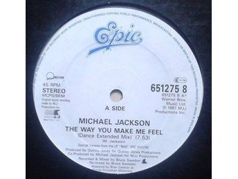 "Michael Jackson title*The Way You Make Me Feel *Disco, Synth-pop 12"" UK"