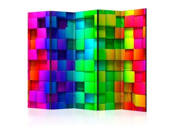 Rumsavdelare - Colourful Cubes II Room Dividers 225x172
