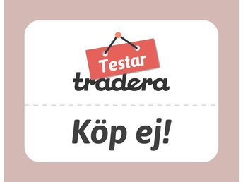 Tradera/Criteo test - auction - no buy now