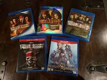 Pirates of the Caribbean komplett samling 1-5
