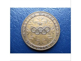 Silver plated bronze medal in 1956 cortina d'ampezzo winter olympics