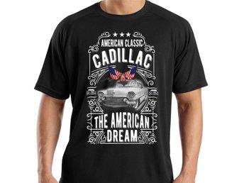 Bil T-shirt Cadillac svart vintage stil : STORLEK XL - Markaryd - Bil T-shirt Cadillac svart vintage stil : STORLEK XL - Markaryd