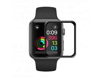 3D Curved Glas skärmskydd Apple Watch 38mm-Svart