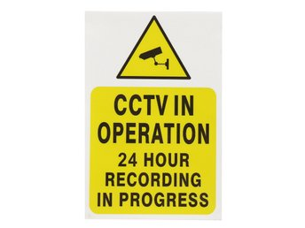 2 Pcs CCTV Security Camera System Warning Sign Sticker De...