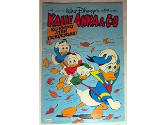 Walt Disney Kalle Anka & Co 1983 Nr 40