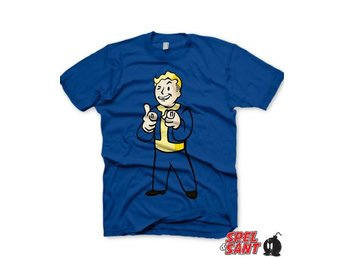 Fallout Vault Boys Charisma T-Shirt Blå (Medium)