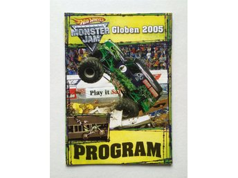 Monster Jam Globen 2005 program Hot wheels monstertruck FMX truck motor