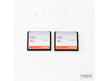 2x SanDisk 16GB Ultra 50MB/s CompactFlash