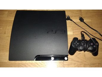 Svensksålt PlayStation 3/PS3 Slim 120GB - med handkontroll & kablage HDMI