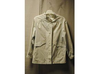 Vintage vinterjacka skid jacka fodrad ull blå rutig Erla 50