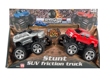 VN Leksaker - Friktion Monster Trucks 2-Pack Silver + Röd 9-10 cm