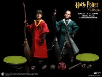 Harry Potter: Harry Potter & Draco Malfoy Quidditch Twin pack