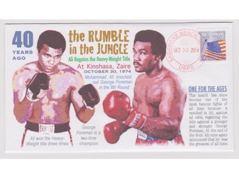 40th Anniversary *Rumble in the Jungle* Muhammad Ali & George Foreman FDC