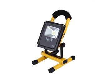QuaLED bärbar laddningsbar LED Strålkastare 10W - Kallvit - Kode - QuaLED bärbar laddningsbar LED Strålkastare 10W - Kallvit - Kode