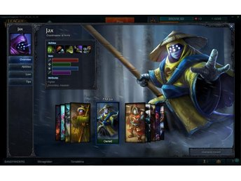 League Of Legends lvl 30 silver 2 PAX JAX 550 skins EUWE - Skövde - League Of Legends lvl 30 silver 2 PAX JAX 550 skins EUWE - Skövde