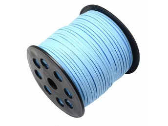 Mockaband 3 mm skyblue - HEL RULLE - 91 meter
