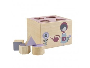 Sebra - Wooden shape sorter - Farm - Rose (3017201)