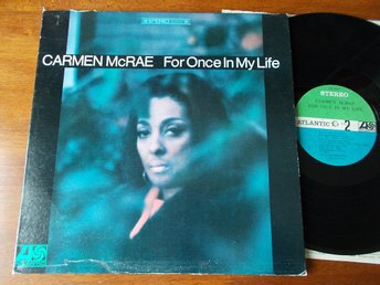 CARMEN McRAE - For once in my life, LP Atlantic Stereo USA 1967