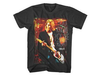 Kurt Cobain You Know You're Right T-Shirt Small
