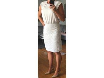 Valerie vit klänning med spets ( 38 bröllop bru.. (425281231