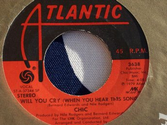 "CHIC - WILL YOU CRY 7"" 1979 USA"