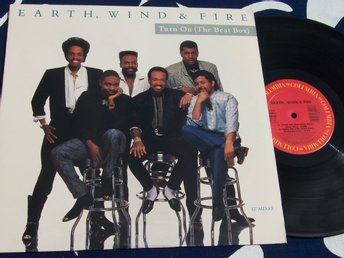"EARTH WIND & FIRE - TURN ON 12"" 1988"