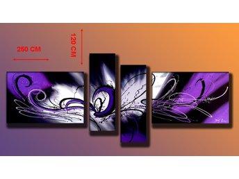 Abstrakt, ingår 4 delar, 250x120 cm - Tollarp - Abstrakt, ingår 4 delar, 250x120 cm - Tollarp