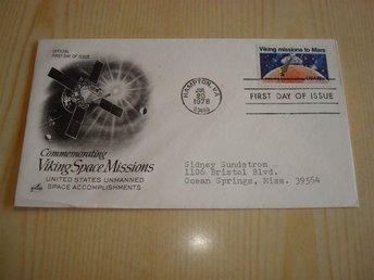 Viking Missions to Mars 1978 USA förstadagsbrev - Jämjö, Blekinge - Viking Missions to Mars 1978 USA förstadagsbrev - Jämjö, Blekinge