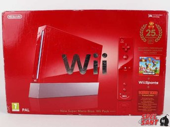 Nintendo Wii Röd Limited Anniversary Edition (inkl. New Super Mario Bros Wii)