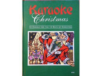 Karaoke Christmas - English hardback book 12 carols JULBOK JUL MUSIK